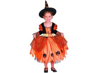 Šaty na karneval - dýňová čarodějka, 92-104 cm