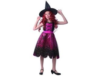 Šaty na karneval - čarodějnice, 120 - 130 cm