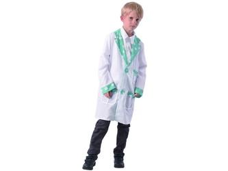 Šaty na karneval - doktor, 110 - 120 cm