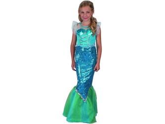 Šaty na karneval - mořská panna, 110 - 120 cm