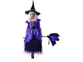 Šaty na karneval - čarodějnice, 130 - 140  cm