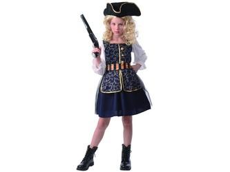 Šaty na karneval - pirátka, 110 - 120 cm