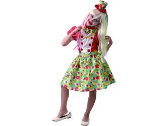 Šaty na karneval - klaun dívka,  120 - 130  cm