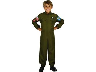 Šaty na karneval - vojenský pilot,  130 - 140 cm
