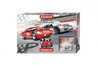 Autodráha Carrera 25197 Evolution Celebracers 50. výročí 5,3m + 2 auta v krabici 73x48x11,5cm