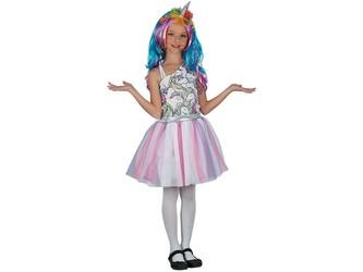 Šaty na karneval - jednorožec, 120- 130 cm