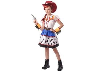 Šaty na karneval - kovbojská dívka, 110 - 120 cm