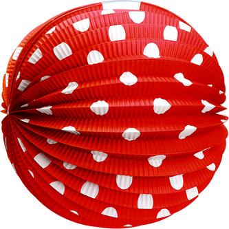 Papírový lampion červený 25 cm