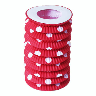 Papírový lampion červený 23 cm