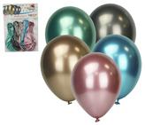 Balónky  5ks CHROM mix
