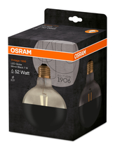 OSRAM Vintage 1906 LED CL GLOBE125 MIRROR BLACK 7W 827 E27 680lm 2700K (CRI 80) 15000h A+ (Krabička 1ks)