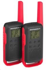 Motorola vysílačka TLKR T62 (2 ks, dosah až 8 km), červená