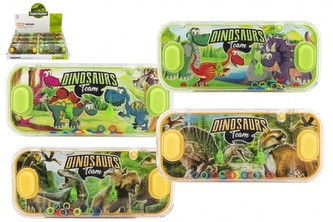 Vodní hra hlavolam 15x7cm plast dinosaurus 4 druhy 24ks v boxu