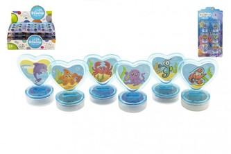 Razítka 6ks plast vodní svět na kartě 10,5x21x2cm 24ks v boxu