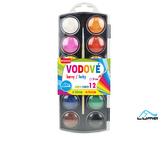 Barvy  vodové se štětcem 12 barev, 30mm LUMA