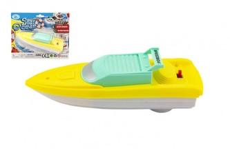 Motorový člun/Loď 17x5cm plast na baterie na kartě