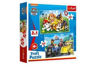 Puzzle 2v1 Paw Patrol/Tlapková patrola 2x50 dílků v krabici 20x20x5cm