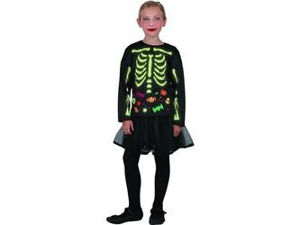 Šaty na karneval -  kostra  dívka svítící v tmě, 120 - 130  cm