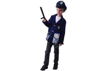 Šaty na karneval - policista, 130 - 140 cm