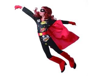 Šaty na karneval - hrdina, 110 - 120 cm