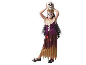 Šaty na karneval -  čarodějka, 110 - 120 cm