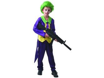 Šaty na karneval - šílený klaun,  110 - 120  cm
