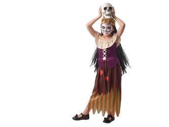 Šaty na karneval -  čarodějka, 130 - 140  cm