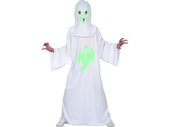 Šaty na karneval - duch, svítící ve tmě,   120 - 130 cm