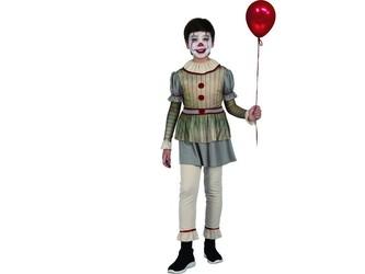 Šaty na karneval -  strašidelný klaun,  120 - 130 cm