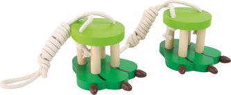 Small Foot Dřevěné chůdy zvířecí nohy zelené