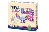 Stavebnice Seva Rodina Bydlíme plast 564ks v krabici 35x33x7cm