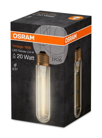 OSRAM Vintage 1906 LED CL Tubular Filament GOLD 2,5W 824 E27 200lm 2000K (CRI 80) 15000h A+ (Krabička 1ks)