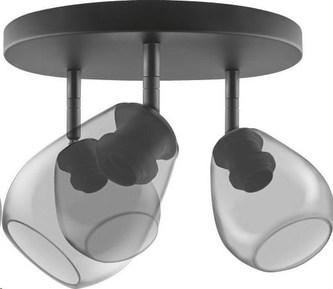 LEDVANCE VINTAGE 1906 CONE SPOT 3X 400X230 Glass, Smoke Grey