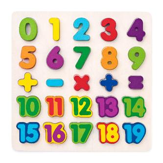 Puzzle - číslice na desce