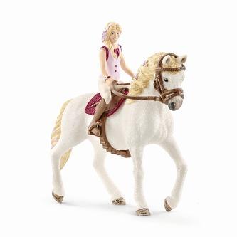 Blondýna Sofia a kůň Blosom