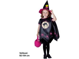 Kostým na karneval - Čarodějnice, 92-104 cm