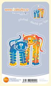 Průsvitná záložka Dvě kočky PZ - 013